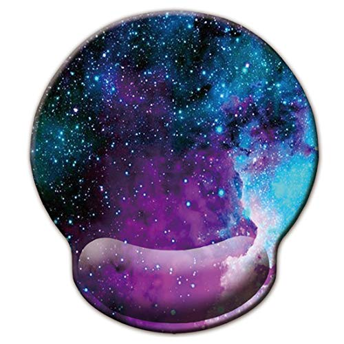 Ergonomic Mouse Pad with Wrist Support,iKammo Galaxy Gel Gaming Mouse Wrist Rest Pad Foam Memory Mouse Pad Padded Mouse Pad Wrist Pad for Men Women (Color 4)