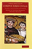 Corpus iuris civilis 3 Volume Set (Cambridge Library Collection - Classics) (Latin Edition)