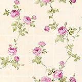 Papel pintado tnt flores de flores Papel pared flores dormitorio beige verde rosa 345014 34501-4 A.S. Création Château 5   beige/verde/rosa   Rollo (10,05 x 0,53 m) = 5,33 m²