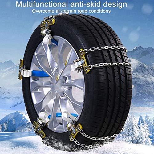 WY-YAN El coche del invierno de la nieve Neumáticos Cadena antideslizante cadenas de coches vehículo todoterreno SUV Coches del neumático de nieve Cadena ruedas de coche neumático de nieve Cadenas de
