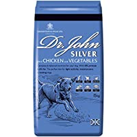 TASTY CHICKEN AND VEGETABLES — Dr. John Silver with Chicken and Vegetables is a perfectly balanced dry dog food basted with meat juices for a delicious flavour that dogs love! For light activity, maintenance and resting adult and senior dogs COMPLETE...