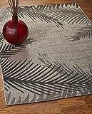 LR Home Captiva Shaded Palms Indoor/Outdoor Area Rug, 7'9' x 9'5', Beige/Black