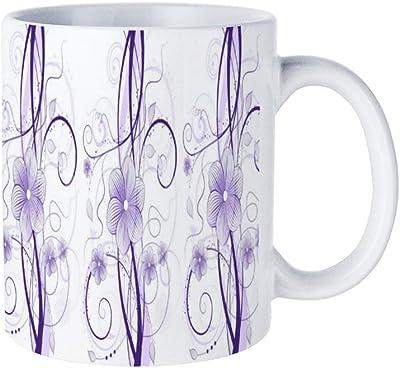 ミリアム布団カバー茶マグカップとコーヒーカップを愛する男性と女性のための白いセラミックマグ
