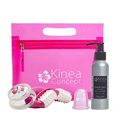 Kit anti cellulite, 2* cellulite cup - Set dimagrante - 2 coppette + rullo + Olio mandorla dolce