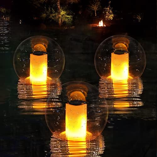 Solar Lights Outdoor,IP68 Waterproof Led Solar Lantern Lights with...