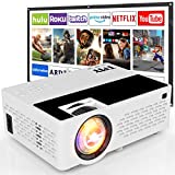 TMY Projector with Projector Screen, 1080P Full HD Supported Video Projector 4500 Lumen, Mini Movie Projector Compatible with TV Stick Game Console HDMI VGA USB TF AV, for Home Cinema & Outdoor Movie.