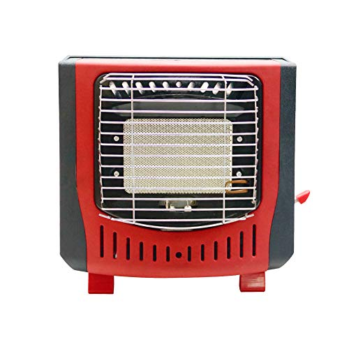 PORLAE Outdoor Indoor-Safe Heater, Space Heater for Camping Tents, Portable Camping Stove Heater (Red)