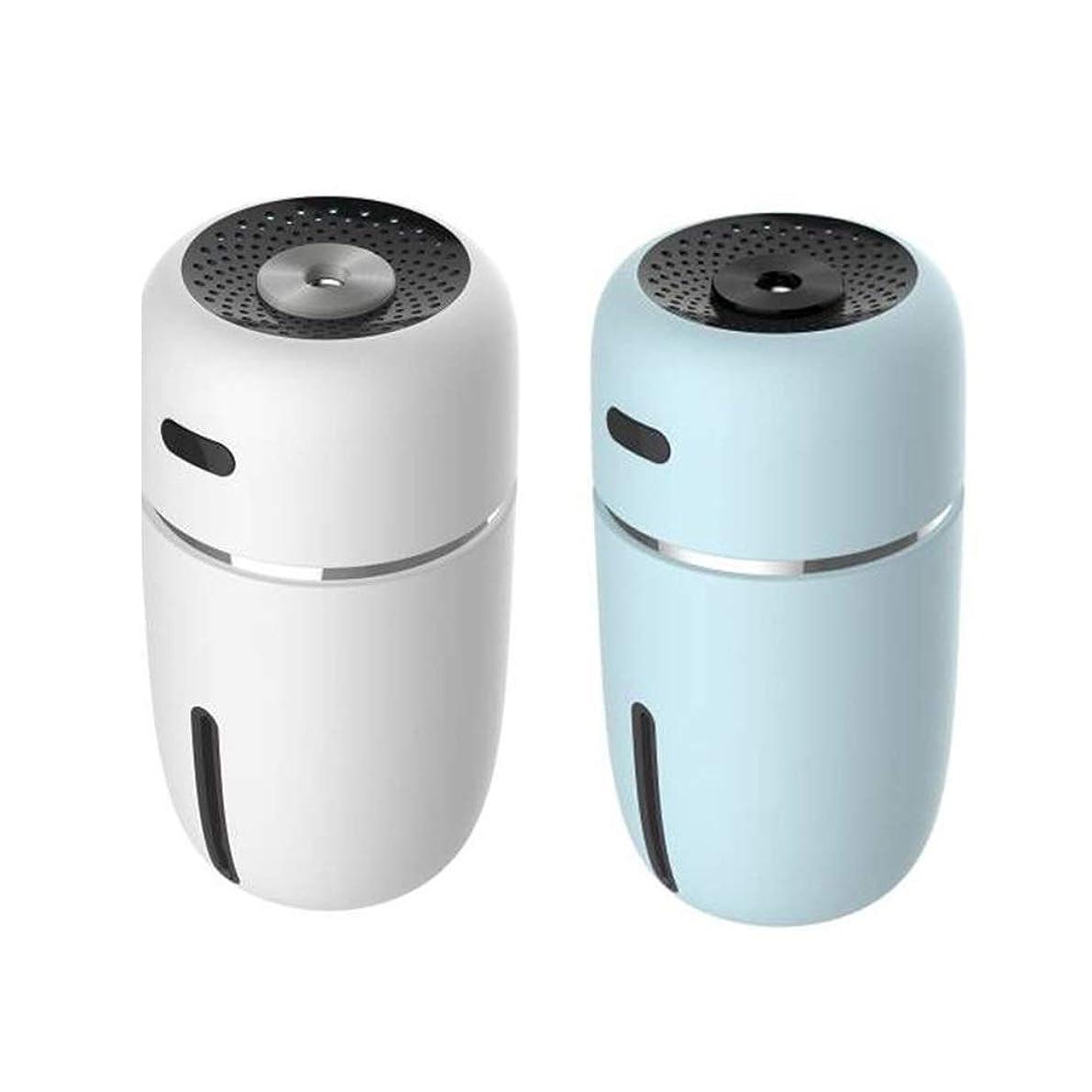袋歌うすることになっているZXF 新しいミニナノスプレー水和美容機器加湿器abs素材usb充電車のオフィス空気浄化水道メーター夜ライトブルーセクションホワイト 滑らかである (色 : White)