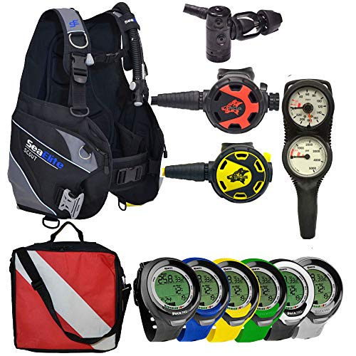 Divers Supply Scuba Package Special of The Month (X-Large/Puck Pro Plus Black/White)