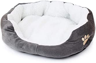 SX Pet Bed for Cats and Small Medium Pet Waterloo Soft Pet Nest Sleeping Bag House Cushion Mat Pad Grey