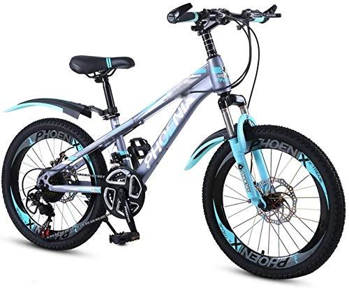 Xiaoyue Fahrräder Schulkinder Fahrrad 18 Zoll 20 Zoll-Junge und Mädchen im Freien Fahrradbergsteigen Mountainbike Variable Speed Fahrrad Geeignet for Studenten lalay (Color : Blue, Size : 18inches)