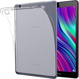 HUAWEI 8.0インチ MediaPad M5 Lite Touch ケース Gosento クリスタル クリア 透明 TPU素材 MediaPad M5 lite 8 保護カバー (半透明)