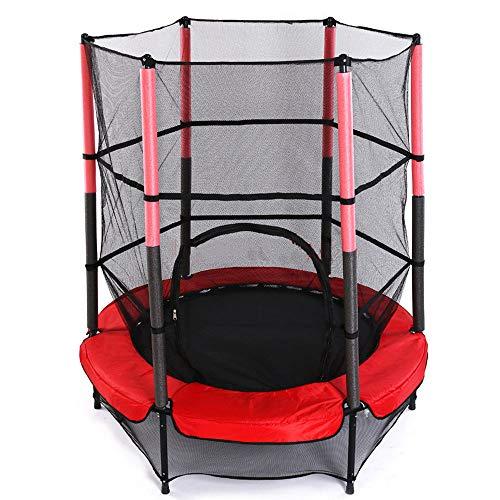 1.4m Diameter Trampoline met Net omheining van de bescherming, Children's Indoor Huishoudelijke Jump pad, eenvoudig te monteren, voor binnen of Backyard spellen