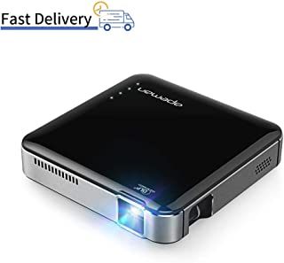 APEMAN NM4 Mini Portable Projector, Video DLP Pocket Projector for Home and Outdoor Entertainment, Support 1080P HDMI Input Built-in Rechargeable Battery Stereo Speakers with Upgraded 360° Tripod