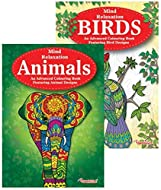 Martello Animals & Birds Adult Colouring Books, Relaxation Anti Stress Ideal Xmas Gift Pack of 2