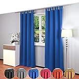 Gräfenstayn® Alana - cortina térmica opaca monocromática que oscurece la...