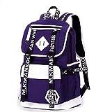 Nenka Mochila de lona para niños, mochila escolar, mochila de ocio para estudiantes de nivel medio, gimnasios, azul marino, S