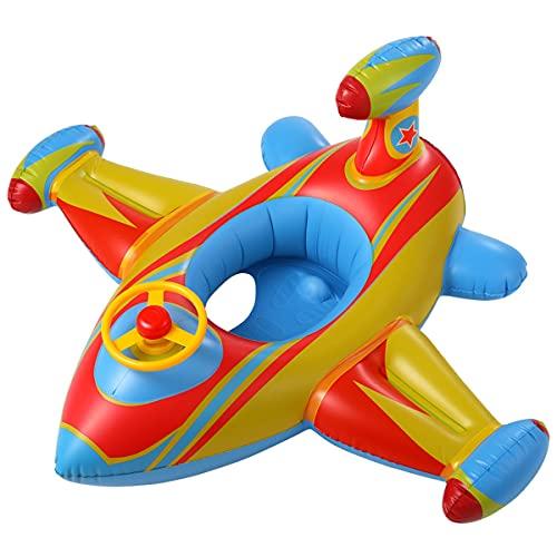 LDOR Flotador bebé, Piscina Hinchables Niños Flotadores para Bebe con Asiento Anillo de Natación para Bebés de 1-6 Años, Inflable Juguetes Regalos