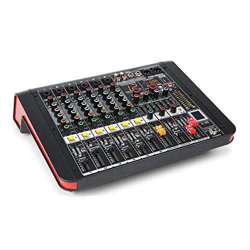 Power Dynamics PDM-M604A 6 kanaals muziek mixer/versterker