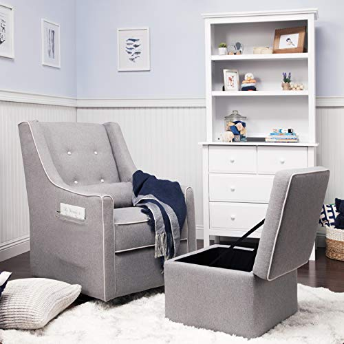 The DaVinci nursery swivel glider is the perfect comfortable chair for small spaces