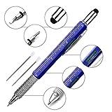 Super 6 in 1 Multifunktions Stift Lineal, Wasserwaage, Kugelschreiber, Stylus, flach Kopf oder Phillips-Schraubendreher | Perfekte Neuheit Geschenk für Herren