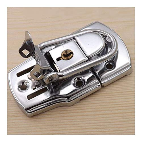 XYBW Chrome Toggle Latch Lock with Key Metal Hasp Buckle for Tool Box Case Suitcase Tool Hardware