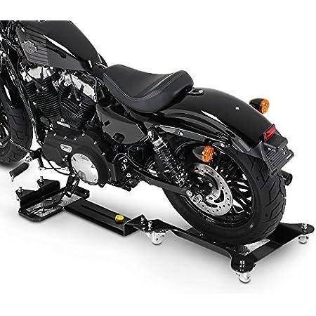 Constands Motomover Iii Motorrad Rangierschiene Für Harley Davidson Dyna Street Bob Fxdb Schwarz Längenverstellbar Rangierhilfe Seitenständer Hinterrad Auto