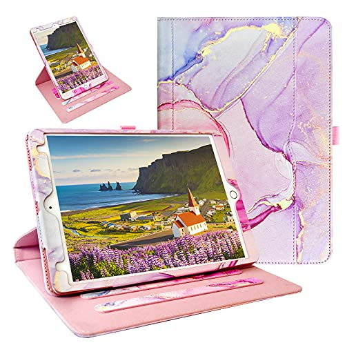 ZoneFoker for New iPad 9th / 8th / 7th Generation Case, iPad 10.2 Case, 360 Protection Multi-Angle Viewing Stand Leather Cover with Pencil Holder for iPad 10.2 inch 2021/2020/2019 - Marble Rose is $22.99 (12% off)
