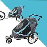 HJTLK Remolque de Bicicleta Plegable para niños 2 en 1 Remolque Jogger para niños, Puede Contener 2 remolques de Cochecito de bebé para niños