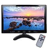 Monitor HD da 10.1 Pollici, Full HD Color 1024 x 600 AV/VGA/Ingresso HDMI, Compatibile con PC, DVD, Telecamera di Sorveglianza e Telecamera di Backup