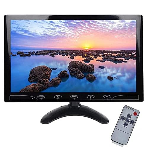 Monitor HD da 10.1 Pollici, Full HD Color 1024 x 600 AV VGA Ingresso HDMI, Compatibile con PC, DVD, Telecamera di Sorveglianza e Telecamera di Backup
