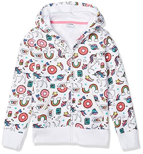 Spotted Zebra Girls' Kids Fleece Zip-Up Hoodie Sweatshirts, Unicorn, Small