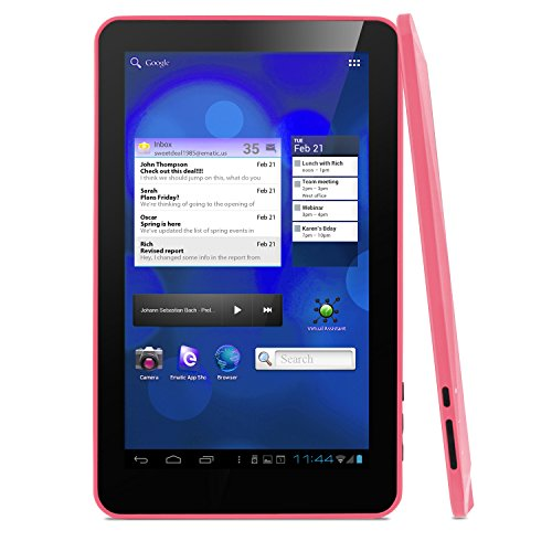 """Ematic eGlide XL Pro II Internet Android 4.0 Tablet 10"""" Captive Touch Screen - Pink"""