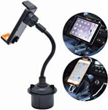 CHAMPLED 2-in-1 Tablet and Smart Phone Car Holder Cradle Stand Drinks Cup Mount Long arm Neck Flexible Adjustable Gooseneck fits Audi Q5 Vent A3 A4 Q7 Carbon TT MK1 RS3 R8 S3 S6 Quattro SQ5 RS7 TTS