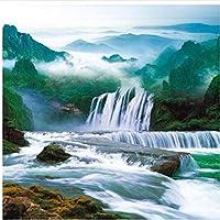 mzznz カスタム壁紙風景滝滝Hd壁紙3Dリビングルームの背景壁画3D壁紙壁用-120X100Cm