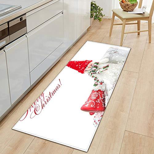 XIAOZHANG Door rug White creative snowman Crystal velvet door mat indoor outdoor carpet corridor floor bedroom living room study rugs Non-slip absorbent 40x60CM