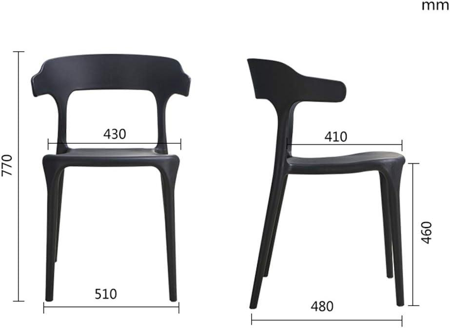 Chaise de salle à manger en plastique minimaliste moderne, chaise nordique adulte de loisirs (Couleur : E) B