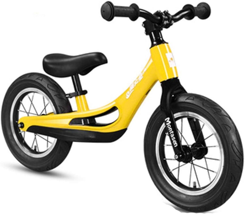 hasta 42% de descuento FFAJ Coche de Equilibrio para para para Niños sin Pedal 1-3-6 años. Coche de Juguete (Color   amarillo)  Con 100% de calidad y servicio de% 100.