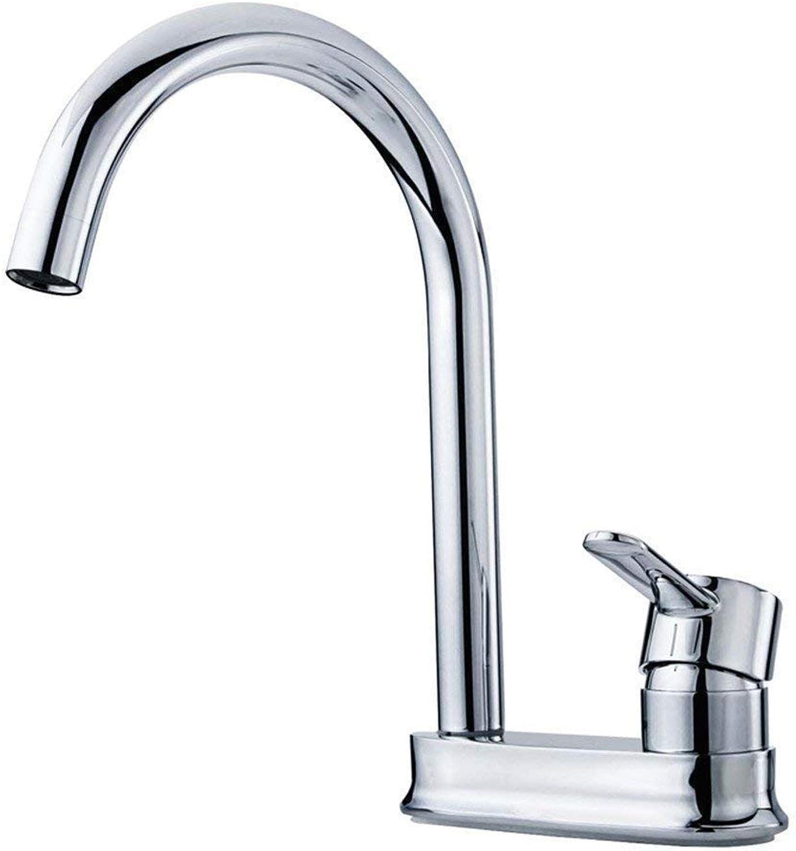Willsego Wasserhahn Doppel-Loch-Becken-Hahn, alle kupferne heie und kalte Wasserdüse, Waschbecken, Hahn-keramischer Ventilkern (Farbe   -, Gre   -)