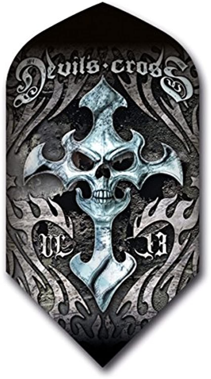 3 Sets (9 Flights) Alchemy Devils Cross Slim Dart Flights
