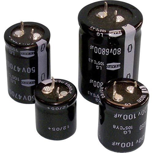 Ta Series 16 mm 2200 µF Condensador electrolítico 16 V con plomo Radial de ± 20/%,