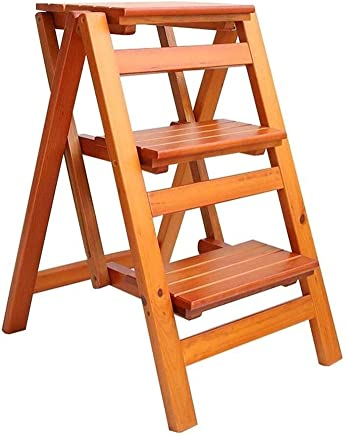 Wtbew-u Folding Step Stool  Steps Wood For Children Adults Multi-purpose Ladders For Household Climbing