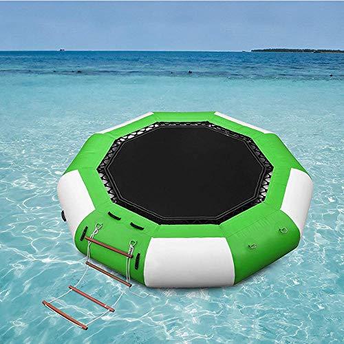 Inflatable Water Trampoline, Outdoor Splash Padded Water Bouncer Inflatable Bouncer Jump Water Trampoline Bounce Swim Platform for Water Sports-5_Ft