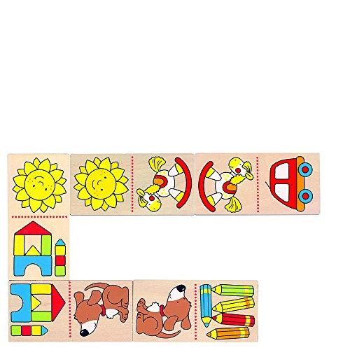 GOKI- Juegos Familiares, Mi Primero Dominó, Multicolor (56696)