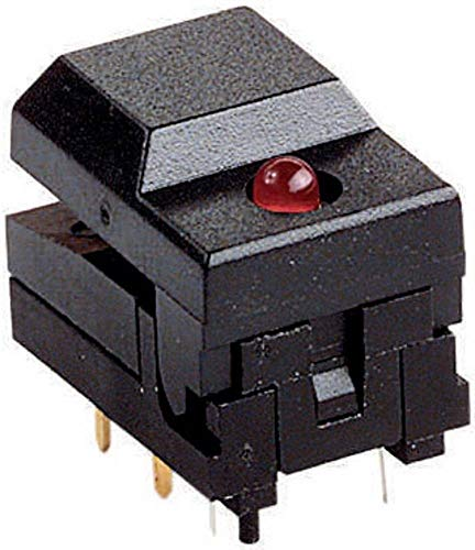 Weltron 604108 Botón 12 V 0.03 A 1 x Off/(On) Momentaneo 1 ud.