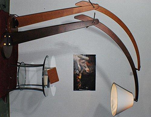 Stehlampe ARCO Holz klassisch Walnuss