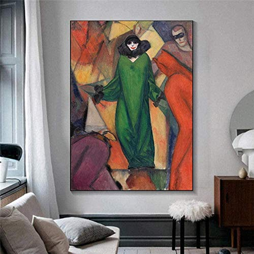 YYTTLL Rompecabezas de la figura del museo, pintura al óleo abstracta de 1000 piezas para adultos rompecabezas de madera, regalo del año