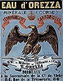 MALALPHA Eau d'Orezza (Corse) minérale ferrugineuse, carbonique - Reproduction Poster Ancien Vintage 61x84 cm -