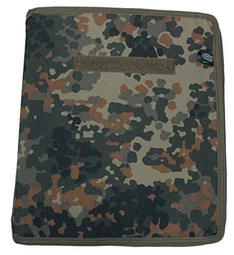 MFH Schreibmappe, Flecktarnbezug, A4 Register, Blätter, Kartenfach