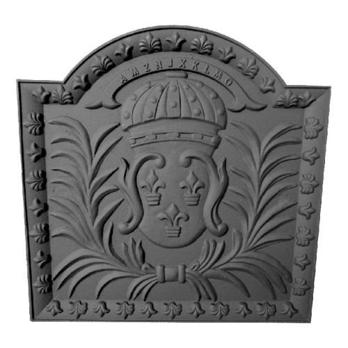 Fantastic Deal! Shop Chimney Black Cast Iron Medallion Fireback - 19.75 x 19.75 inch